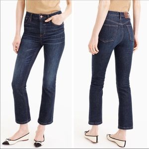 J. Crew Billie High Rise Demi Boot Crop Jeans